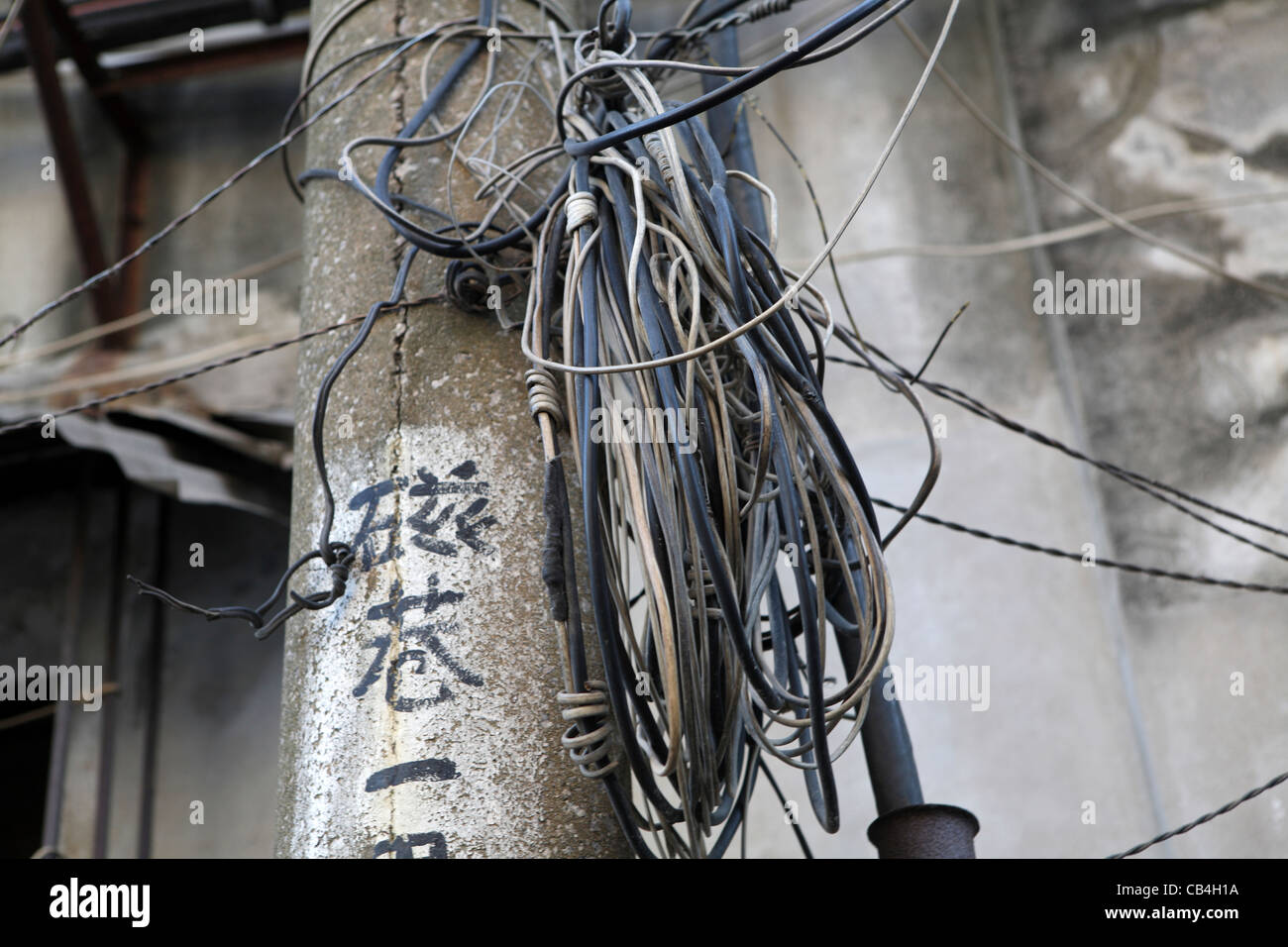 unsafe electrical wiring stock photos unsafe electrical wiring rh alamy com Unsafe Electrical Lab Setup Unsafe Electrical Panel