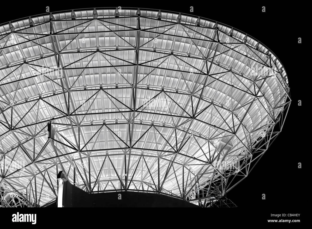 Negative Image of a huge Parabolic Antenna - Stock Image