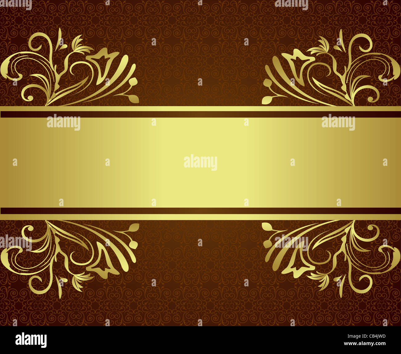 Vector Golden Floral Luxury Background For Design Stock Photo