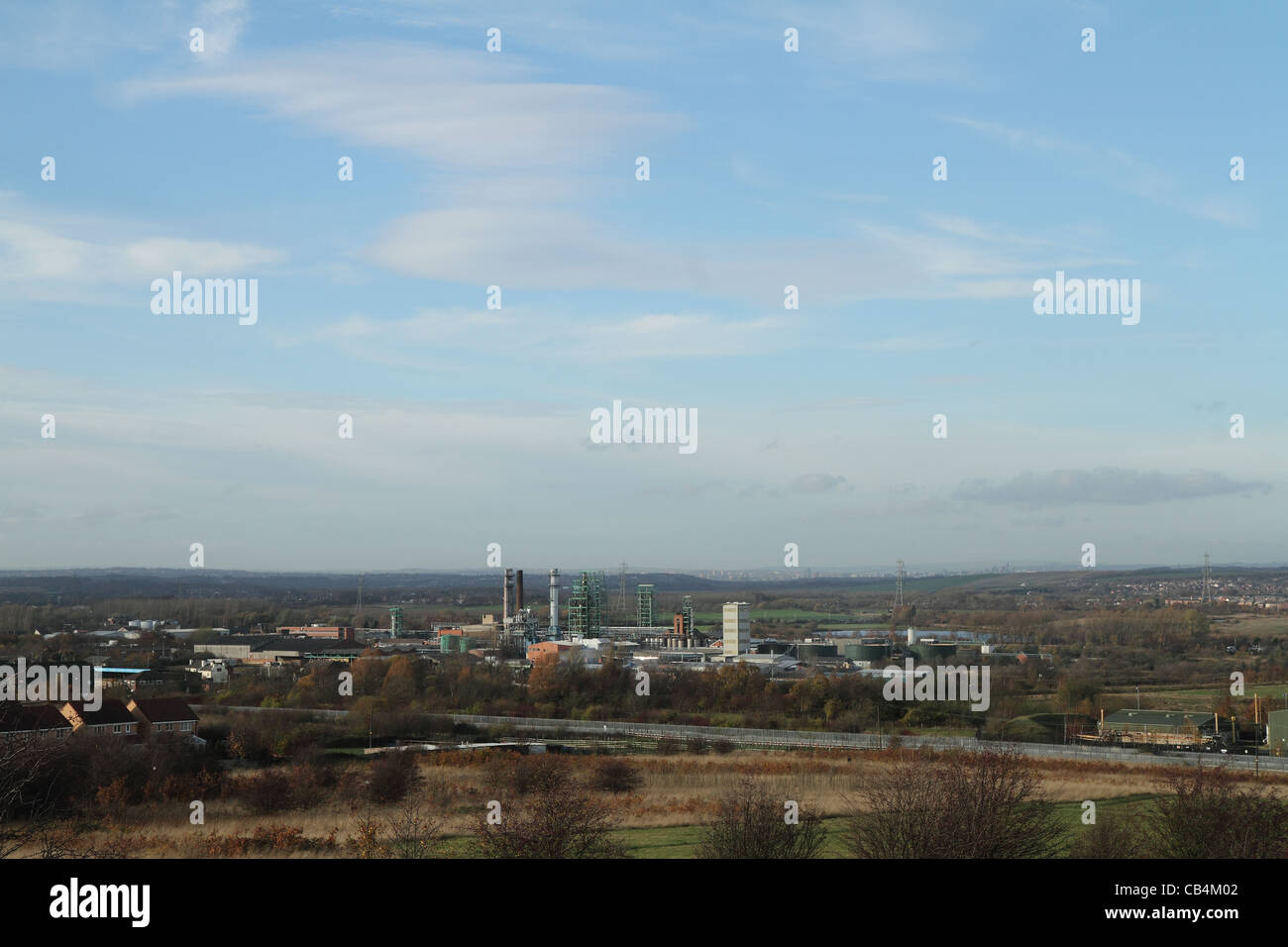 industrial factory chemical works castleford - Stock Image