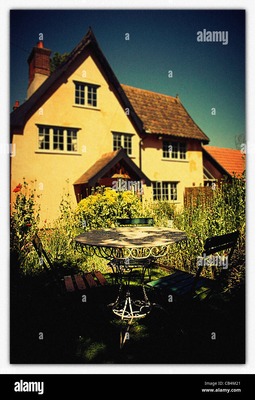 Old period house in Suffolk England - Stock Image