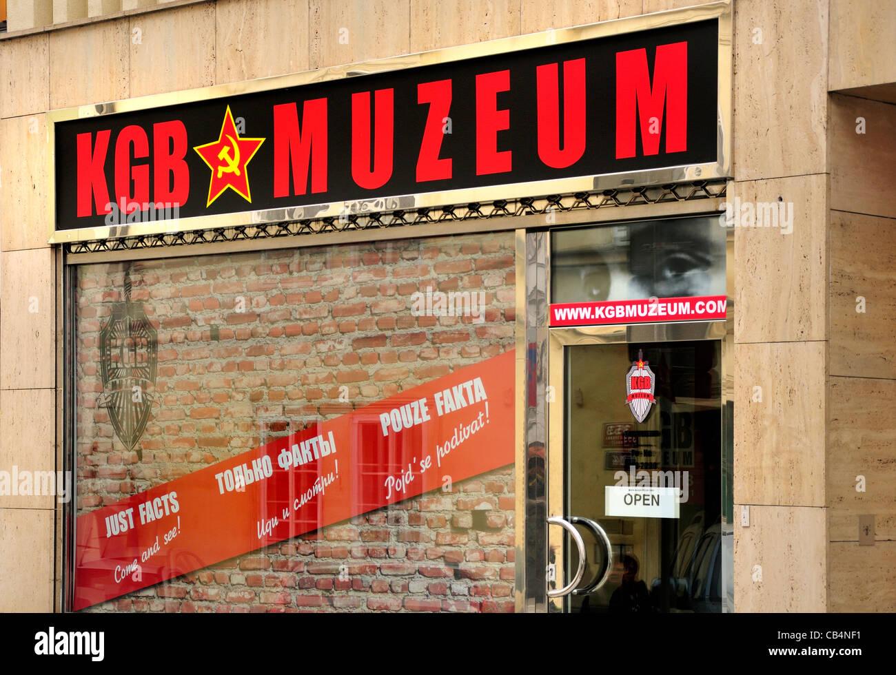Prague, Czech Republic. KGB museum at Vlašska 13, Malá Strana Stock Photo