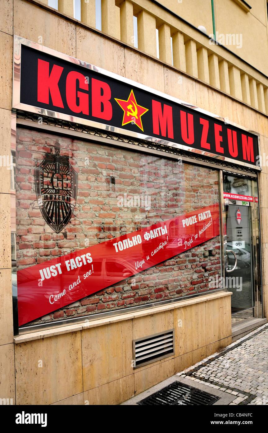Prague, Czech Republic. KGB museum at Vlašska 13, Malá Strana - Stock Image