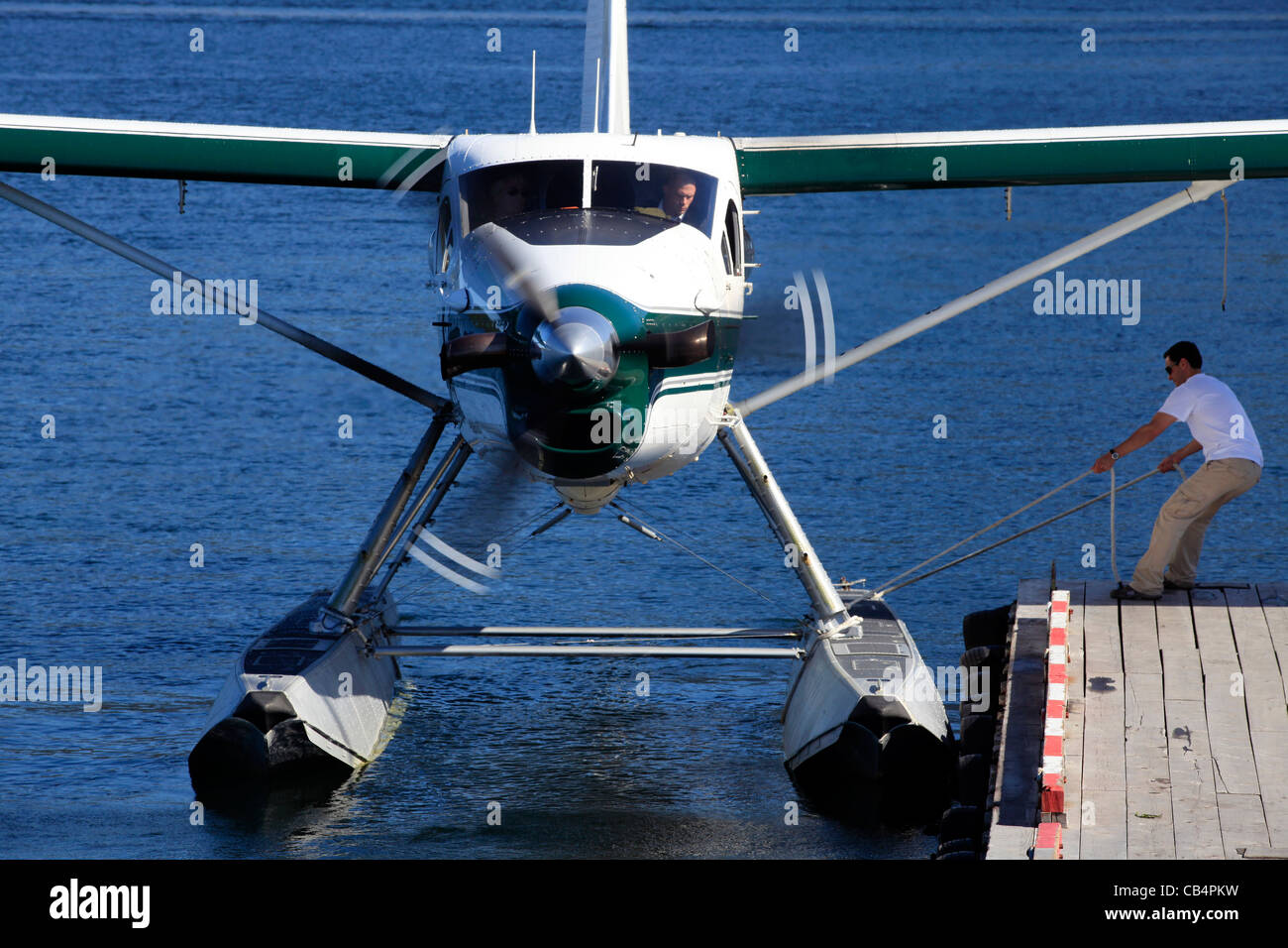 C-FITS (cn 90) Tofino Air about to departure to Vancouver - International Seaplane (CAM9) - Stock Image