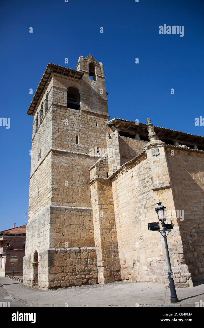 Church in  Fromista, province of Palencia, Castile and León, Spain. - Stock Image