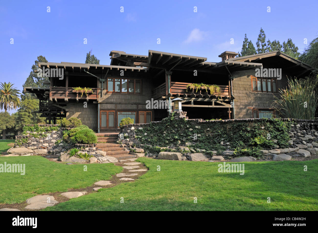 The Gamble House, a historic house in Pasadena, California. - Stock Image