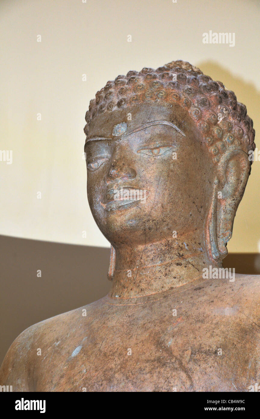 Buddha Shakyamuni displayed at the Norton Simon museum, Pasadena, California. 9th century, Thailand, - Stock Image