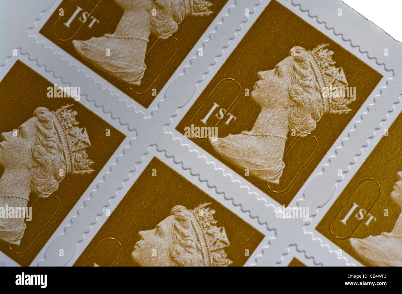 Royal Mail 1st First Class Postage Stamps UK - Stock Image