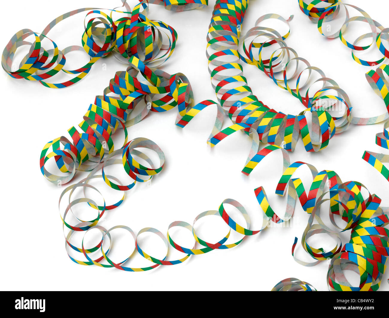 Colourful Streamers - Stock Image