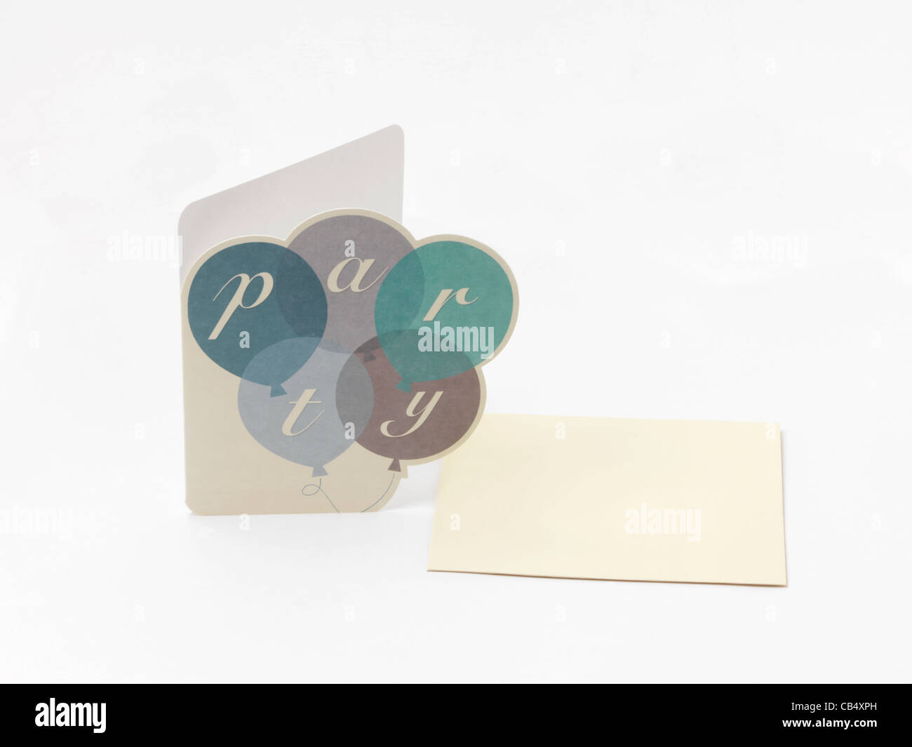Party Invitation And Envelope - Stock Image