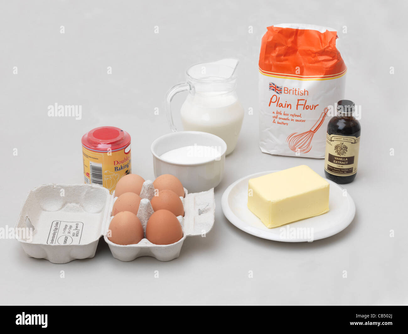 What can i make with plain flour eggs and butter