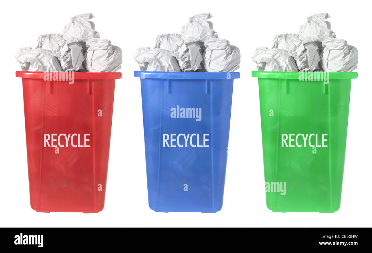 Paper Bins for Recycling - Stock Image