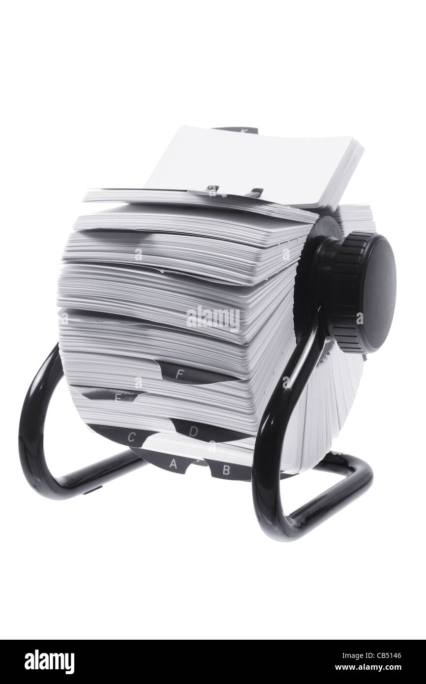 Rotary Card File Holder - Stock Image