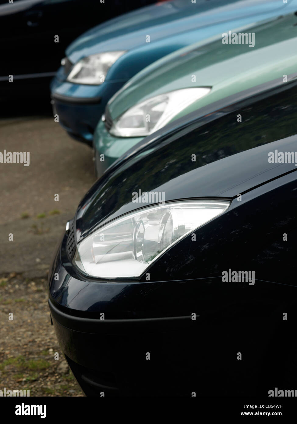 Cars On Sale In Car Lot England - Stock Image