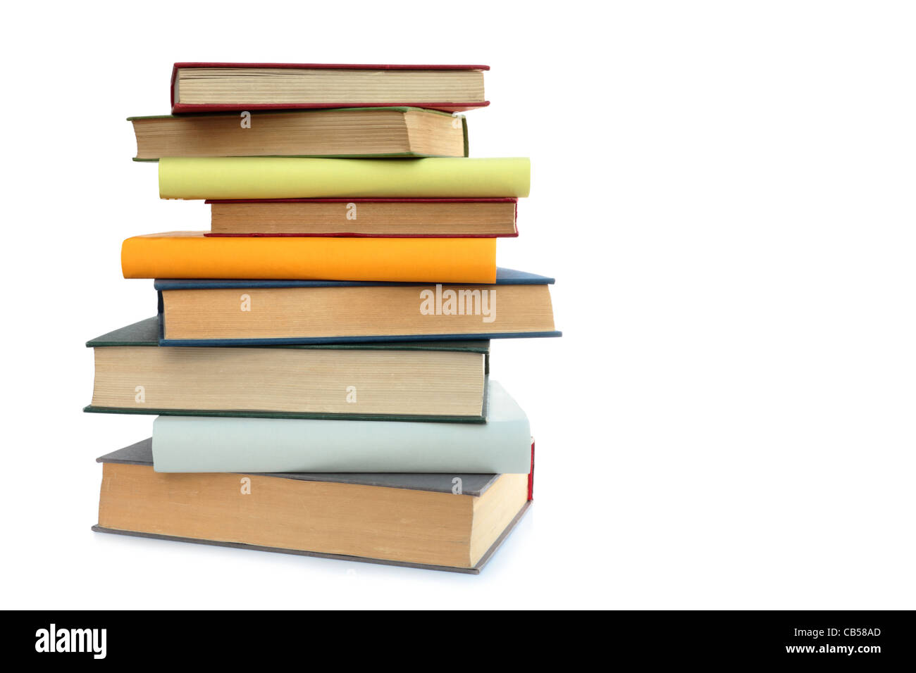 stacked books on a white background stock photo 41298277 alamy