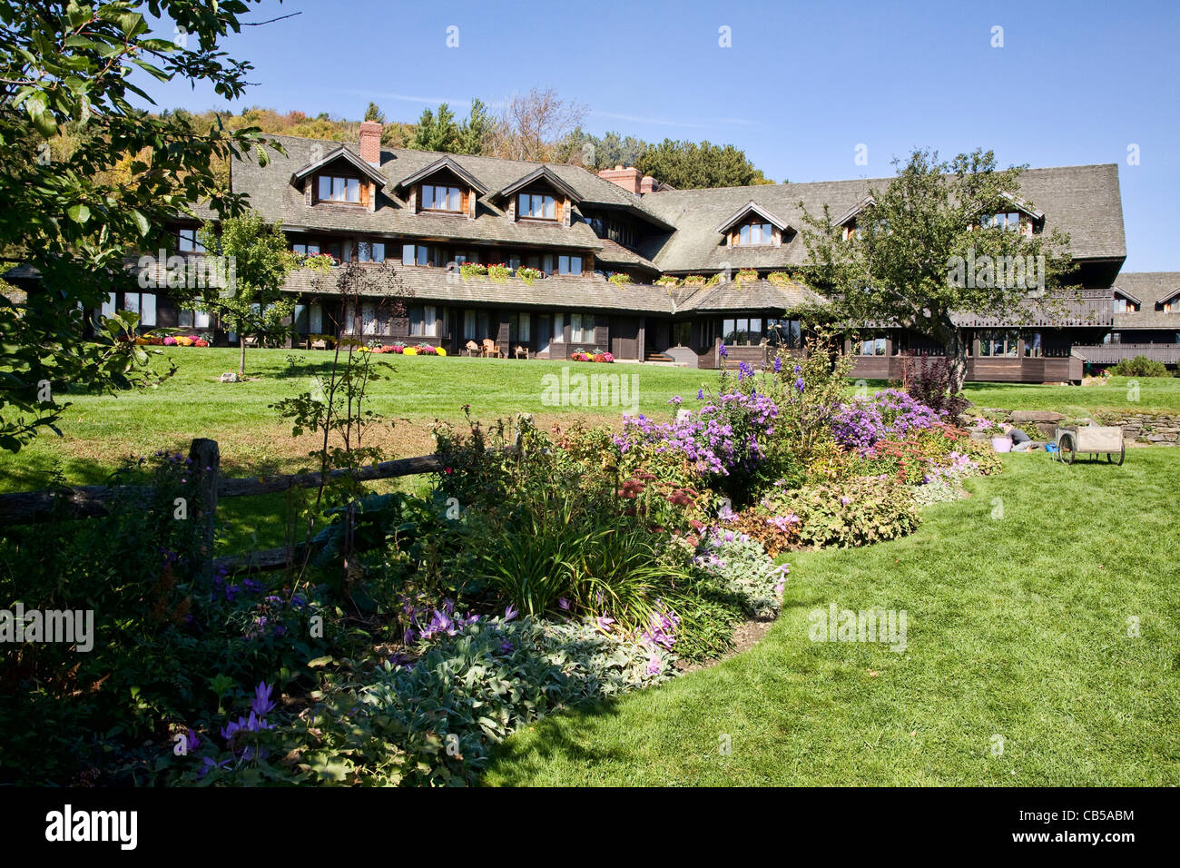 The Trapp Family Lodge in Vermont. - Stock Image