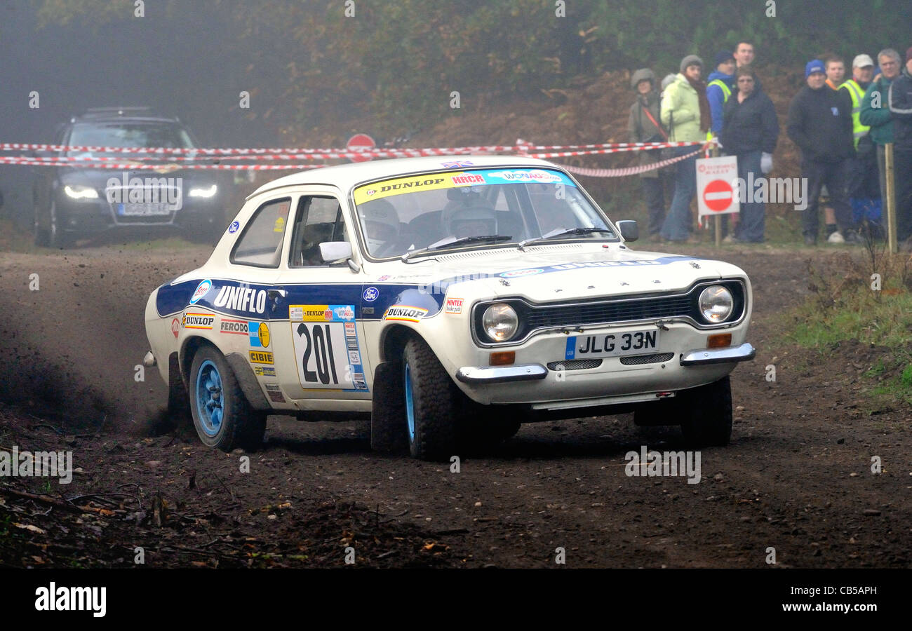 Historic Rally cars racing around Sherwood forest in the Premier ...