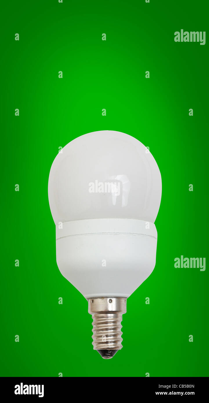 Energy saving light bulb - Stock Image