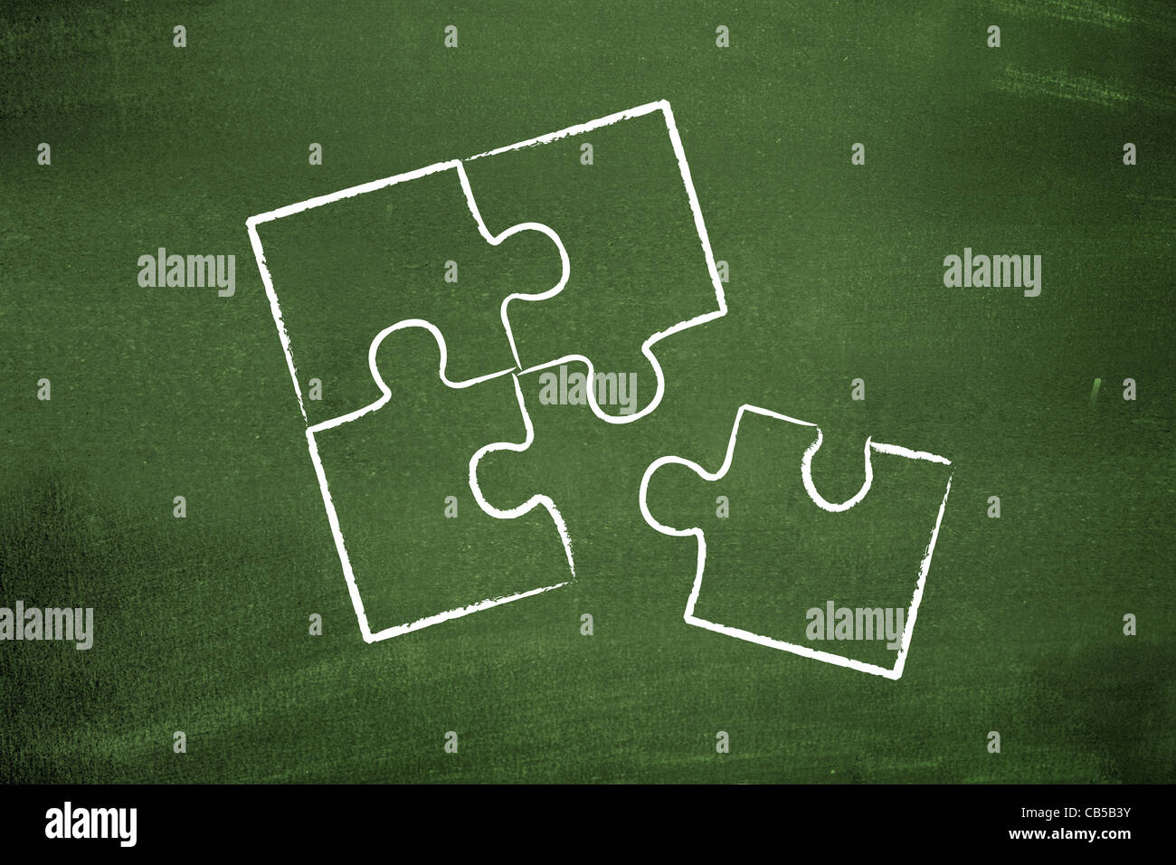 Missing piece - Stock Image