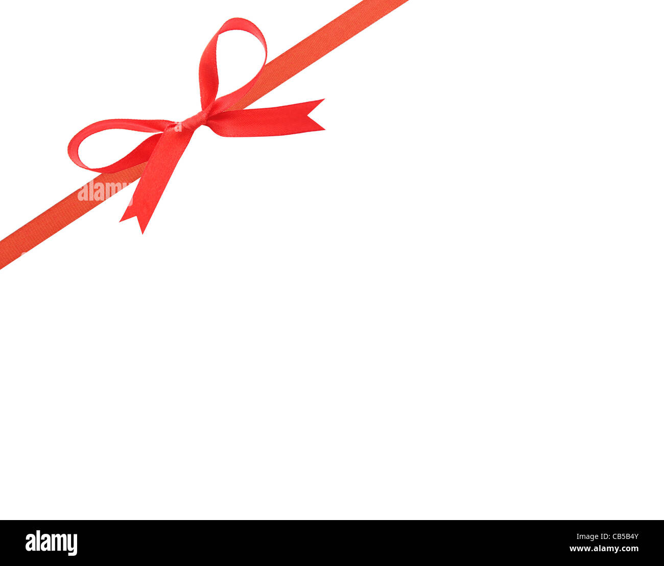 Beautiful red ribbon and bow - Stock Image