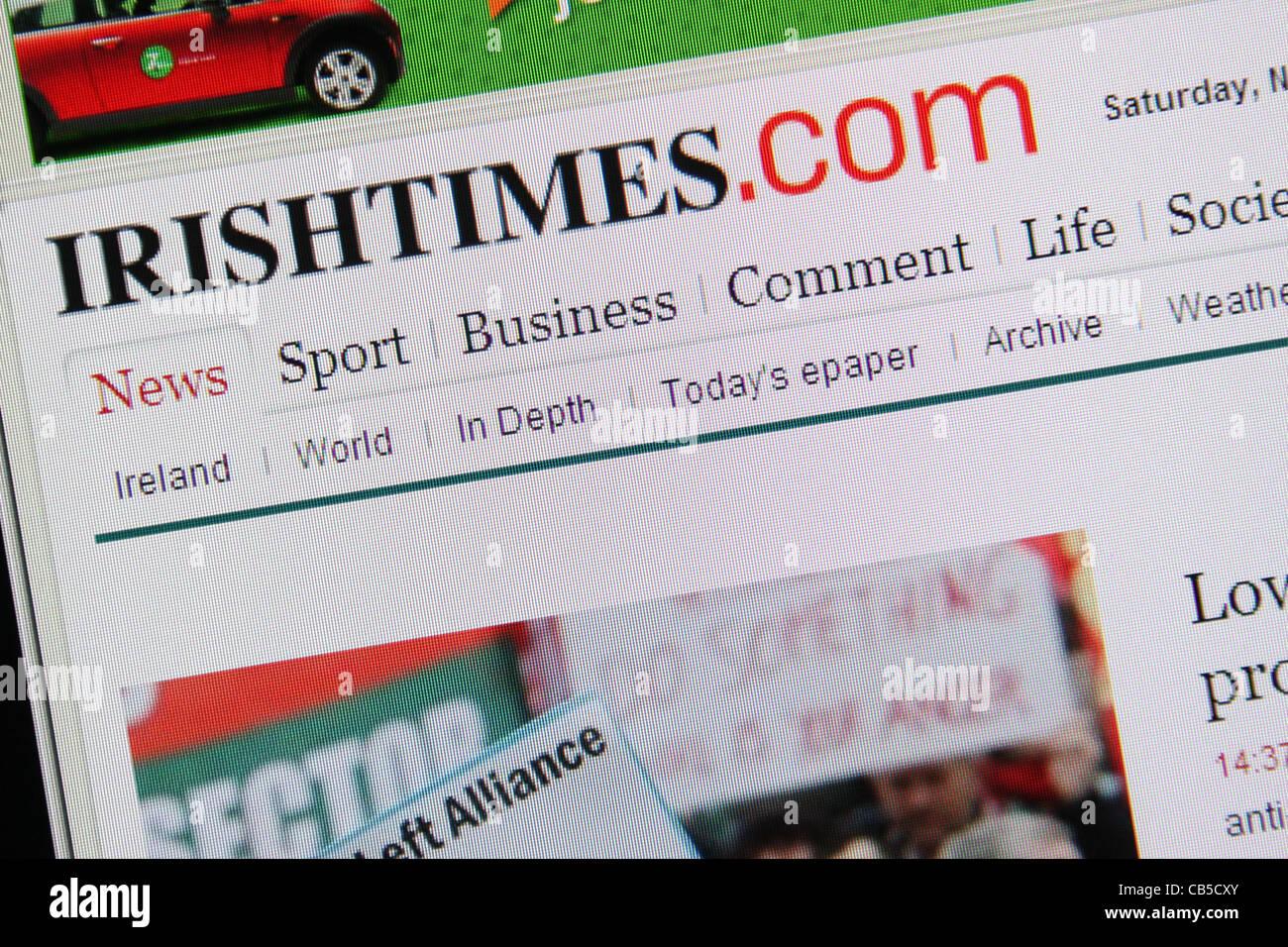 irish times irishtimes online website screenshot - Stock Image
