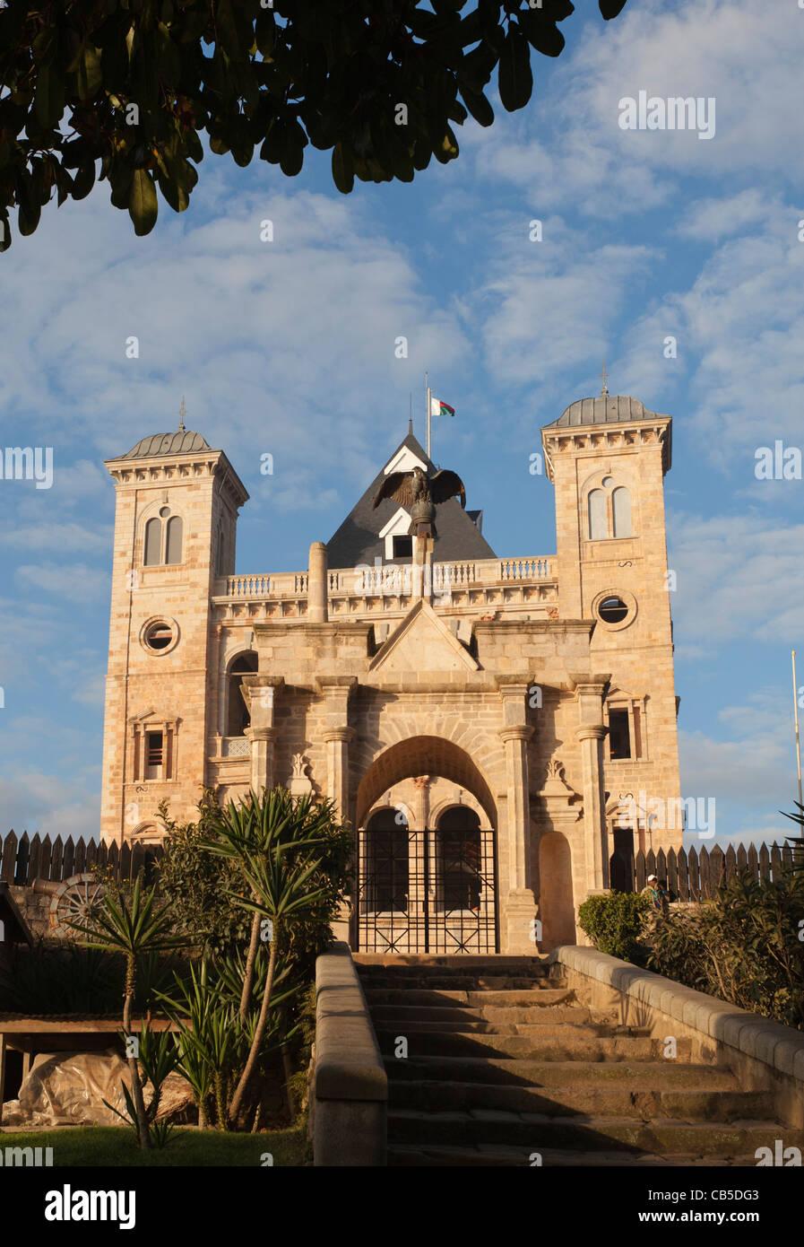 colonial era government building in Antananarivo, Madagascar - Stock Image