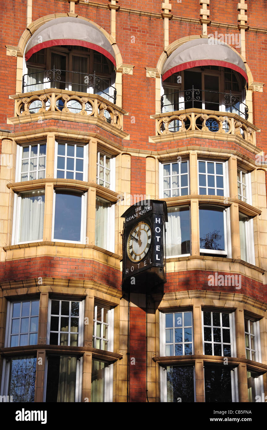Period architecture, Sloane Square, Chelsea, Royal Borough of Kensington and Chelsea, Greater London, England, United - Stock Image