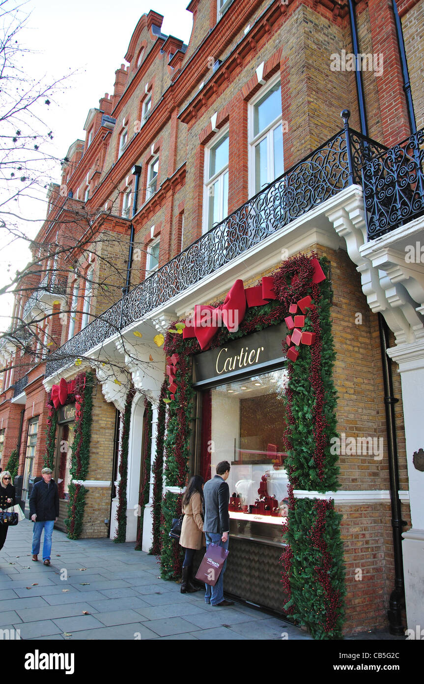 Cartier store, Sloane Street, Chelsea, Royal Borough of Kensington and Chelsea, London, Greater London, England, Stock Photo
