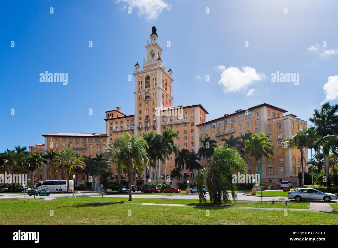 The Biltmore Hotel, Coral Gables, Miami, Florida, USA - Stock Image