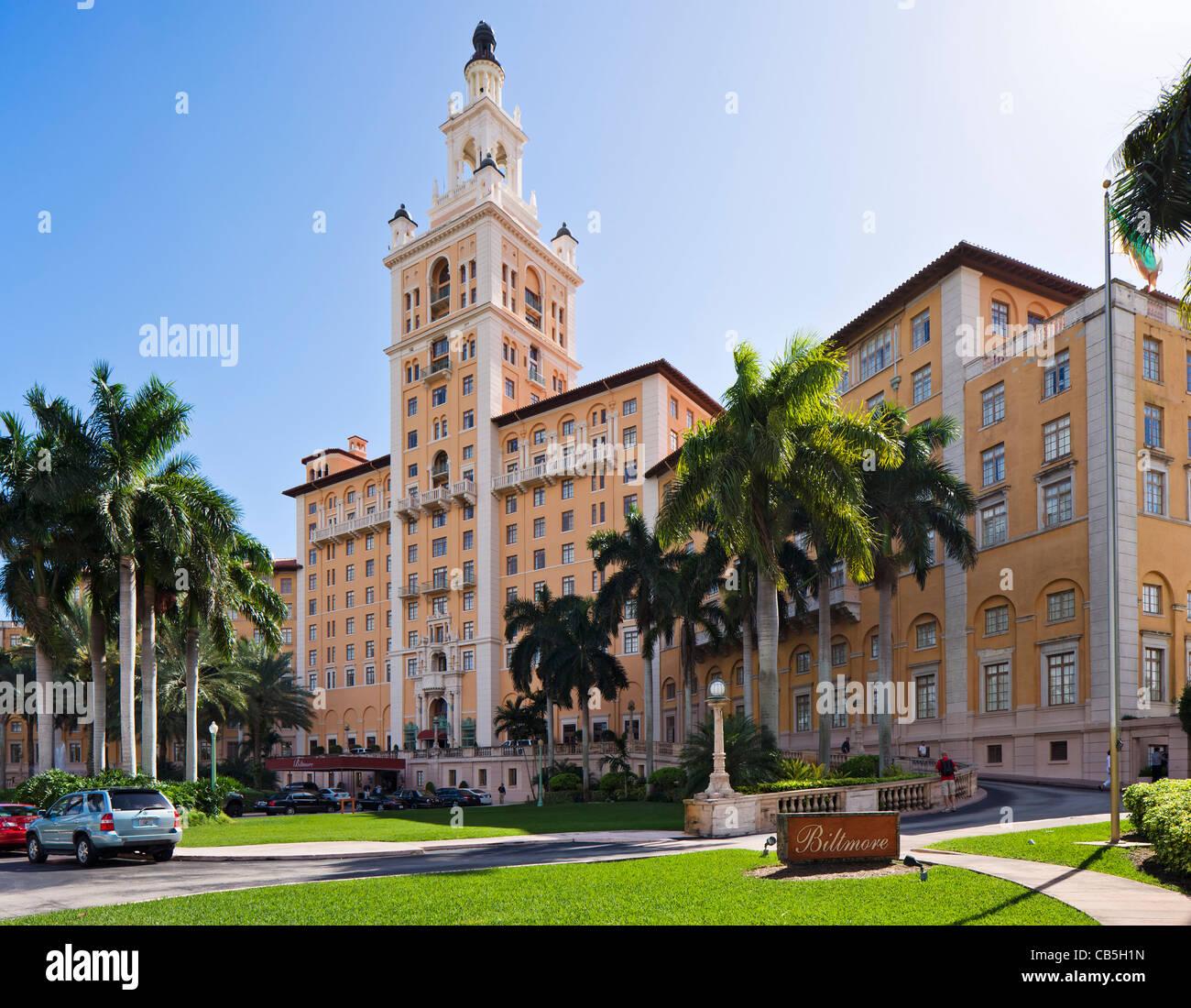 The Biltmore Hotel, Coral Gables, Miami, Florida, USA Stock Photo