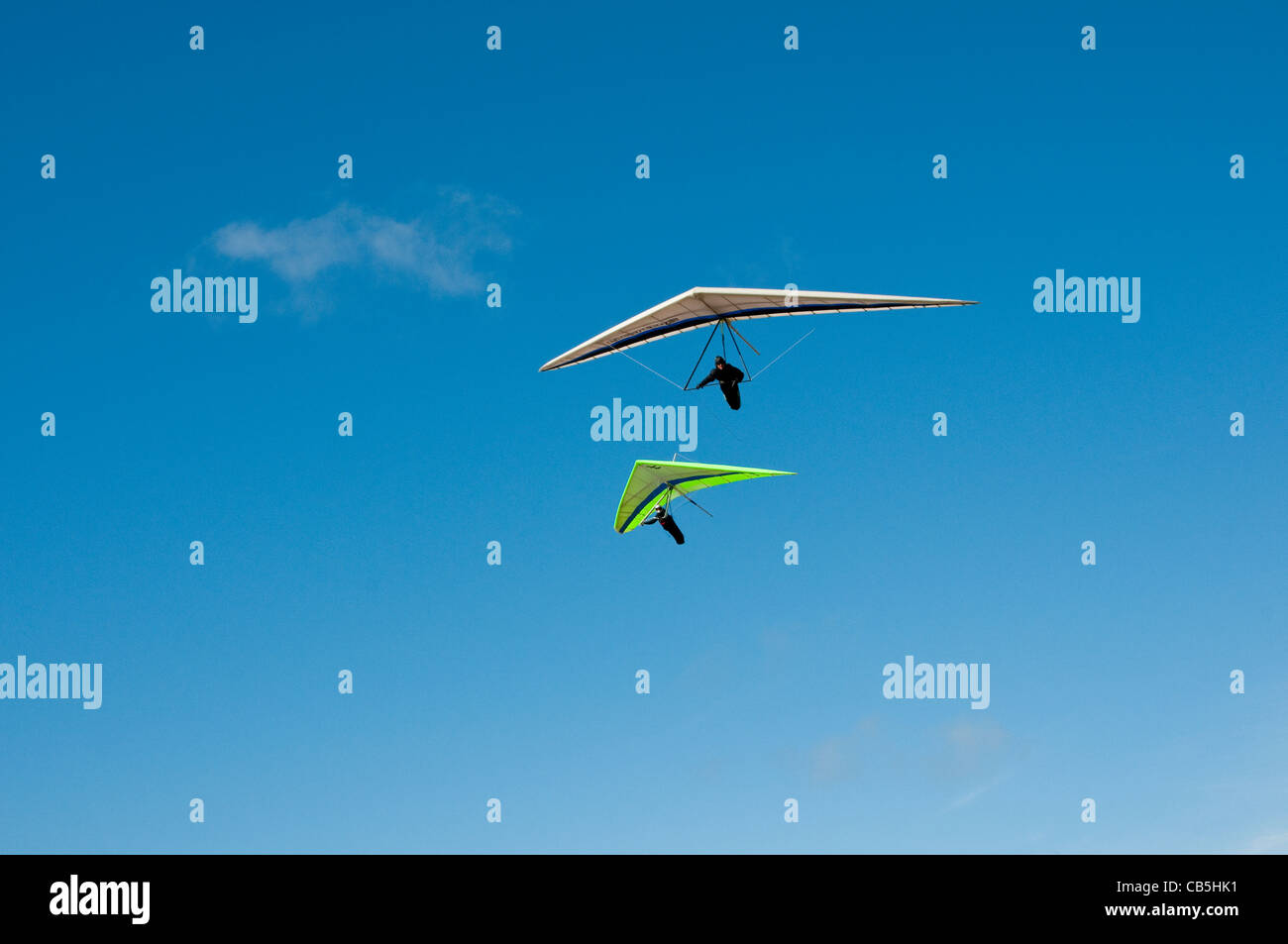 Hang gliding, hang glider, Fort Funston, San Francisco, California, USA. Photo copyright Lee Foster. Photo # california108447 - Stock Image