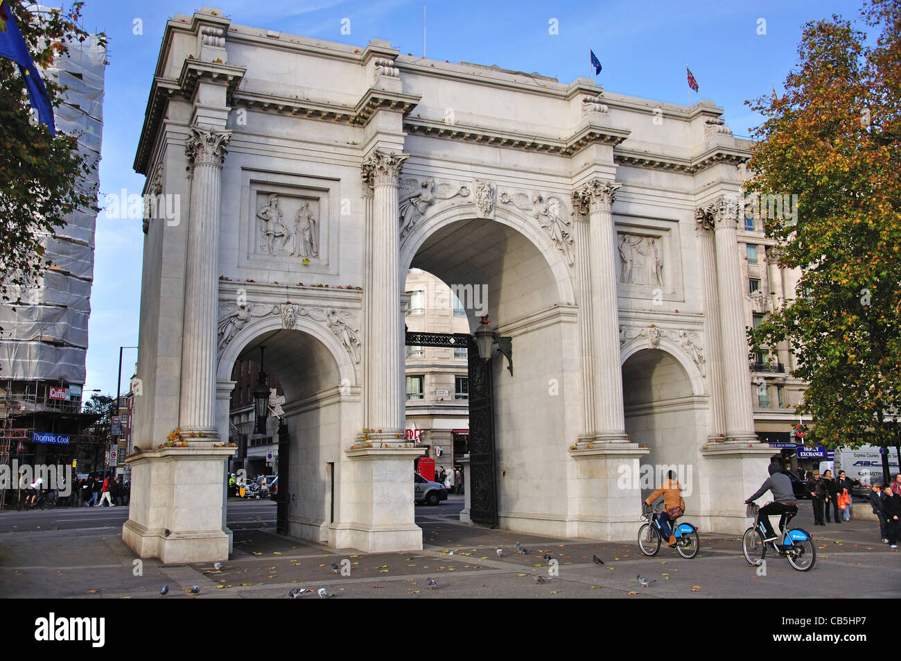 Marble Arch, Oxford Street, City of Westminster, London, Greater London, England, United Kingdom - Stock Image