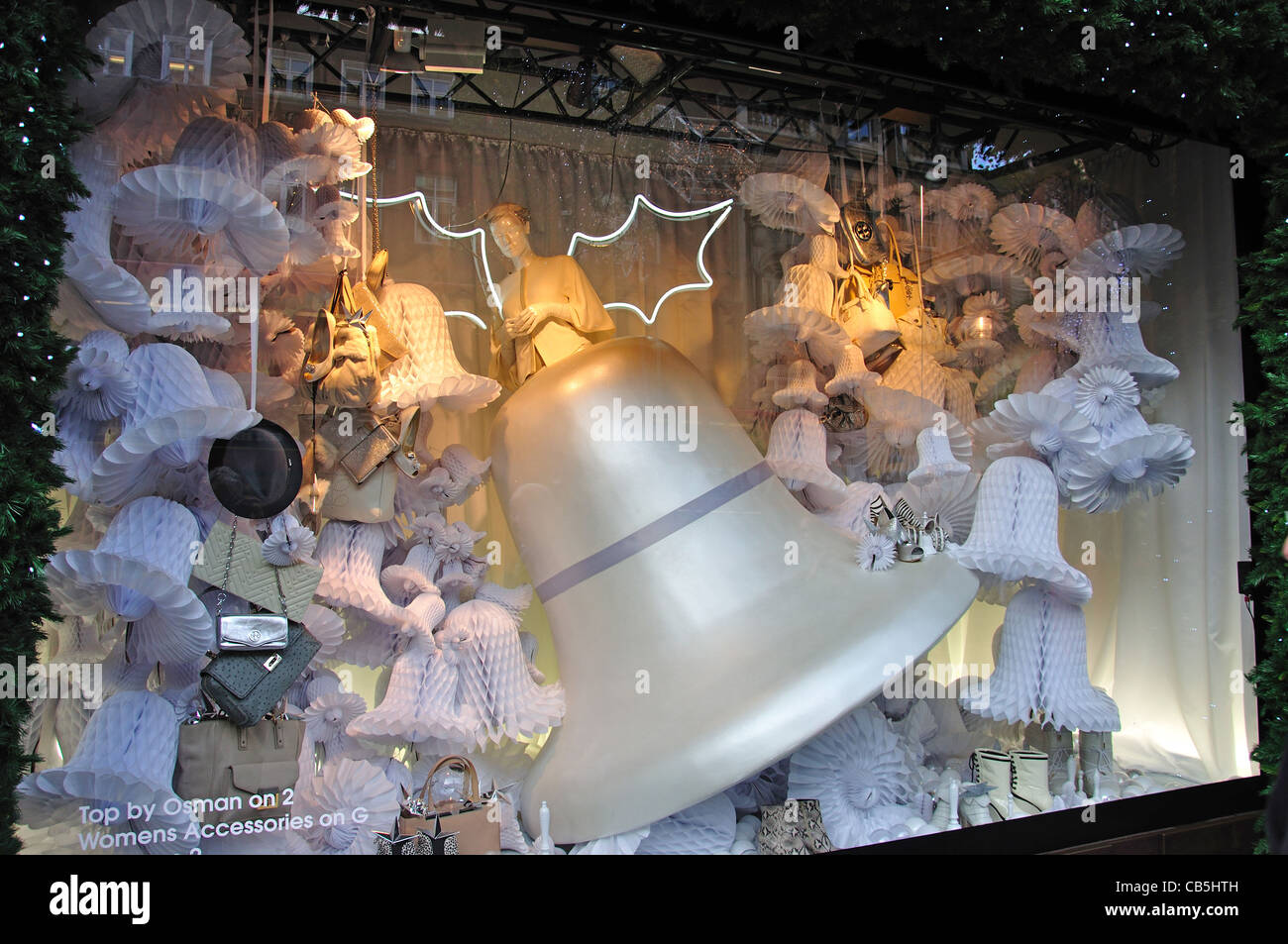 Selfridges department store window at Christmas, Oxford Street, City of Westminster, Greater London, England, United - Stock Image