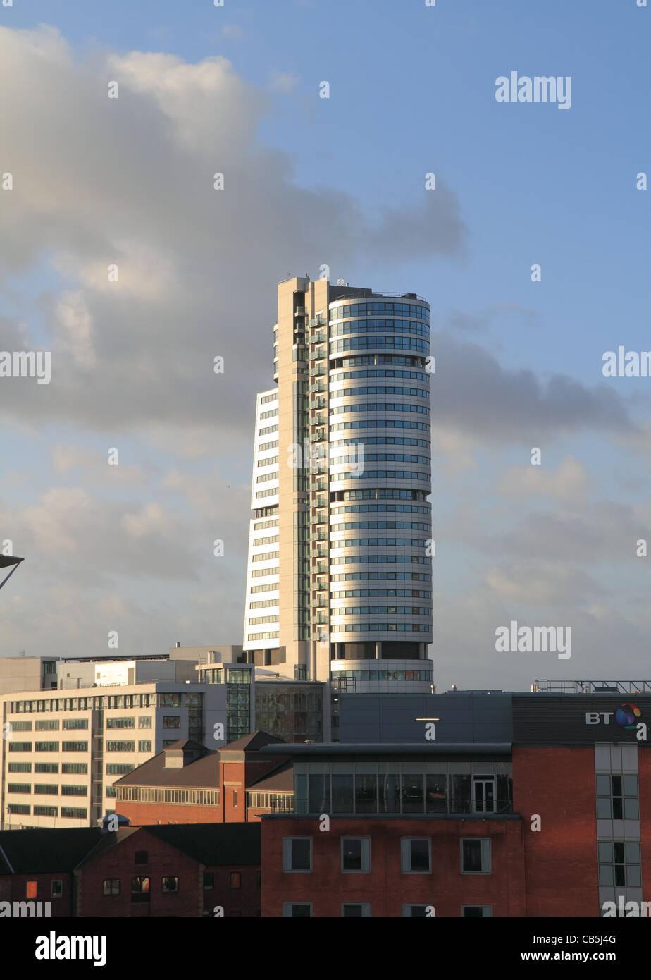 Leeds city skyline - Stock Image