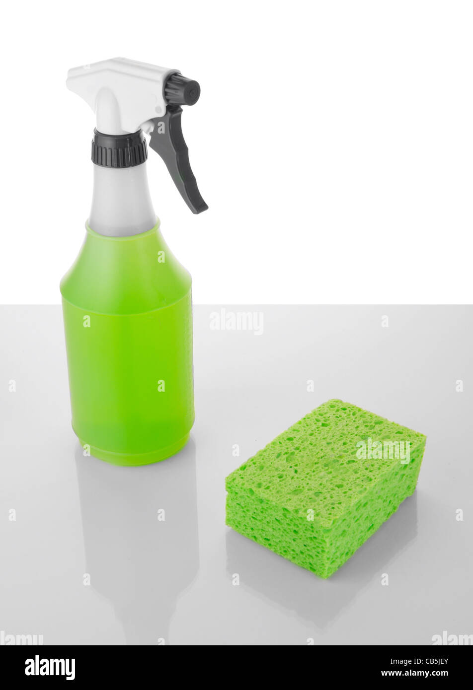 green environmentally safe biodegradable cleaning detergent spray product - Stock Image