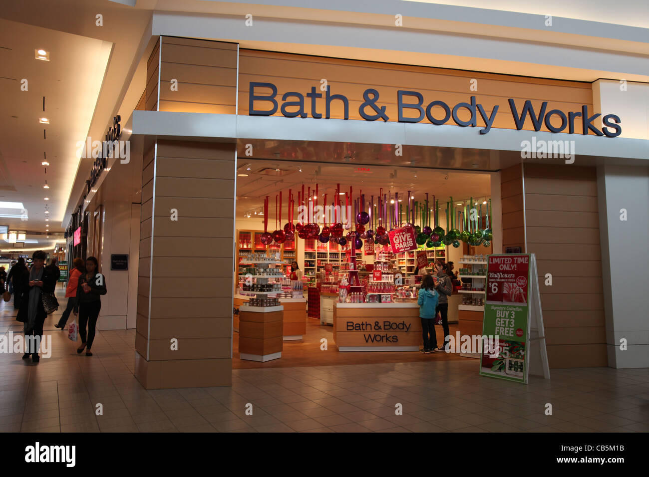 Bath and Body works store Christmas decoration in Fairview mall