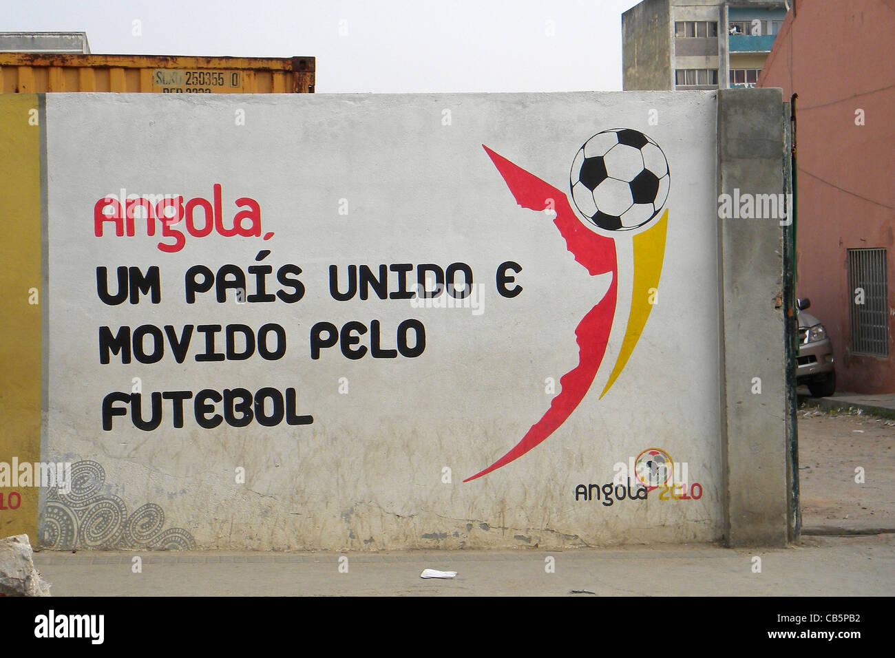 Message, Lubango, Angola - Stock Image