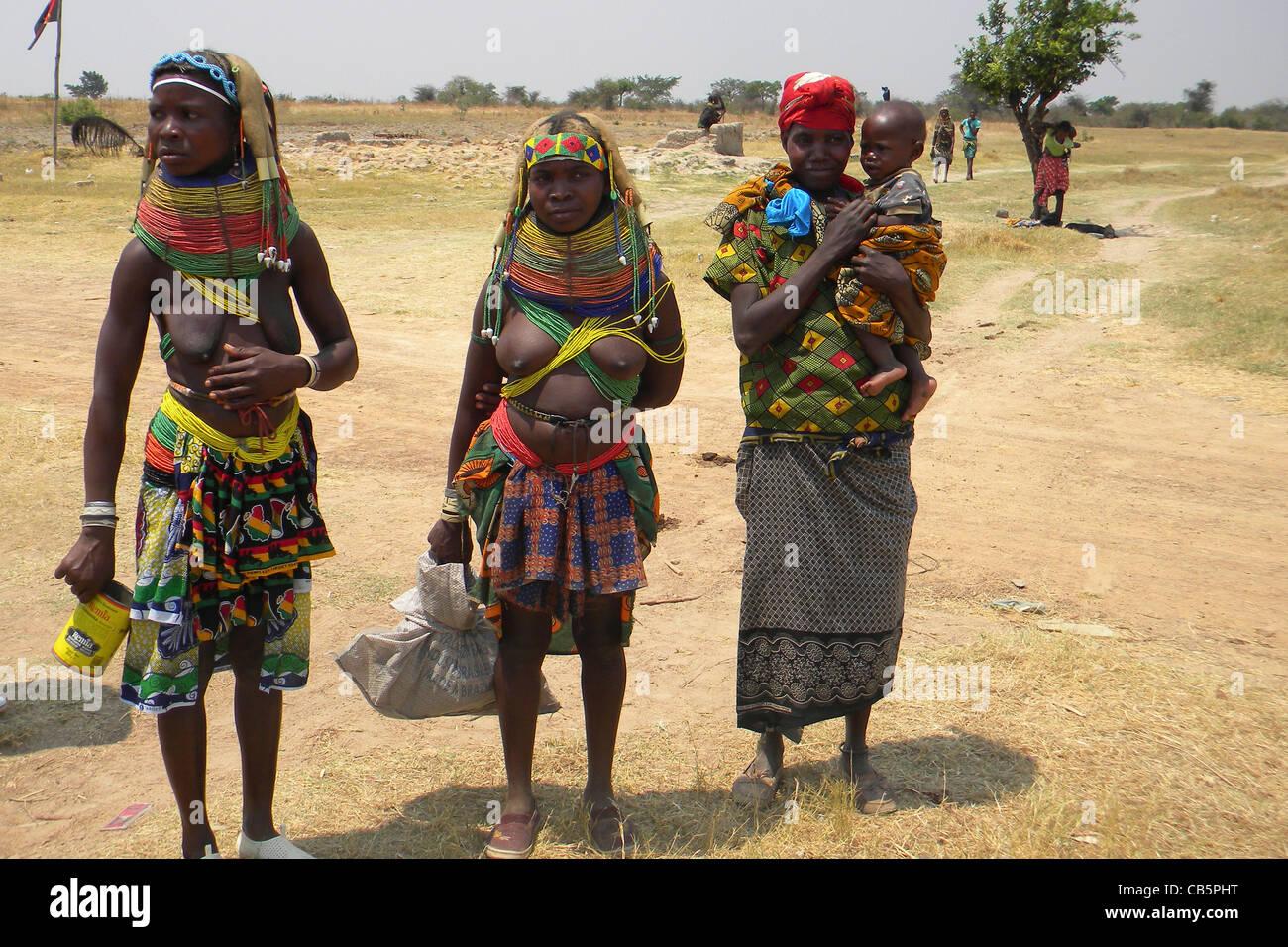 Mumuila tribe, Lubango, Angola - Stock Image