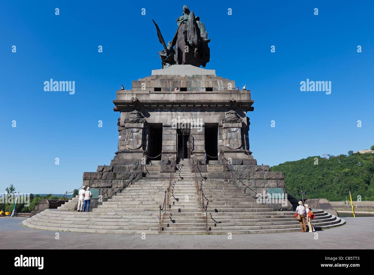 The Deutsches Eck (German Corner), a famous landmark in the German city of Koblenz - Stock Image