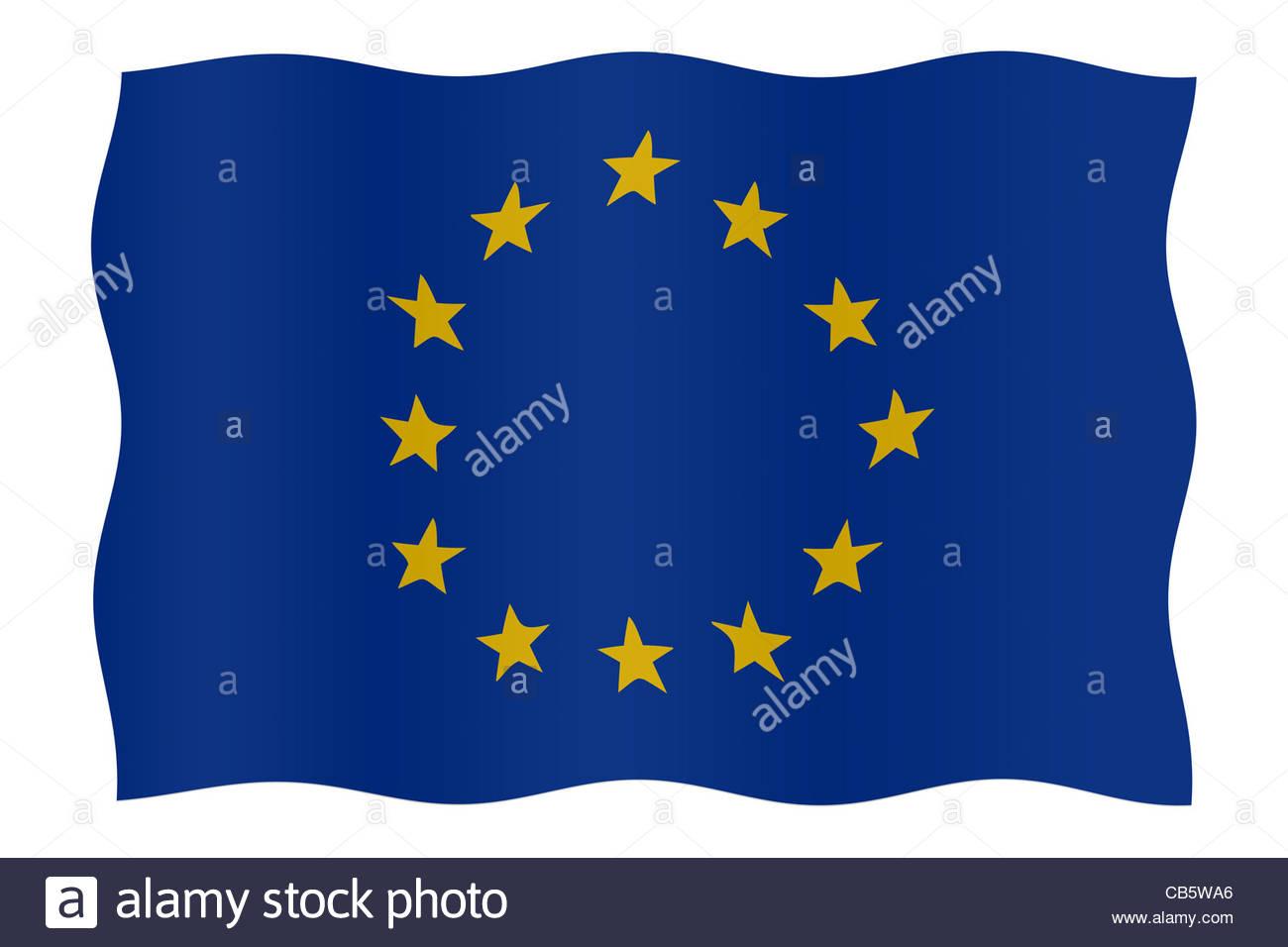 Digital illustration - flag of EU - Stock Image