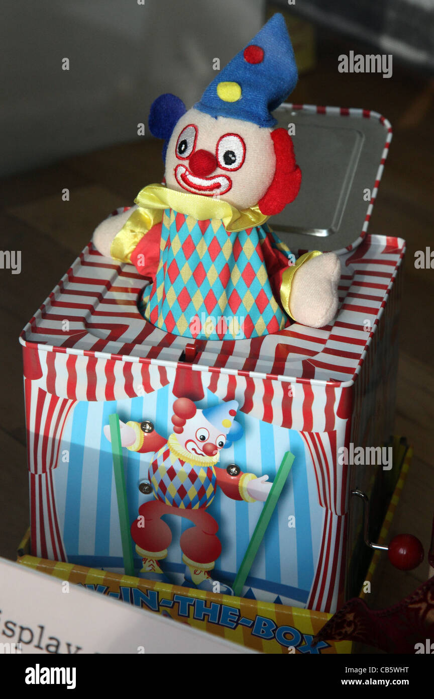 Jack-in-the-Box, Adam's Fine Art Christmas window display designed by Alexa O'Byrne, Dublin, Ireland - Stock Image