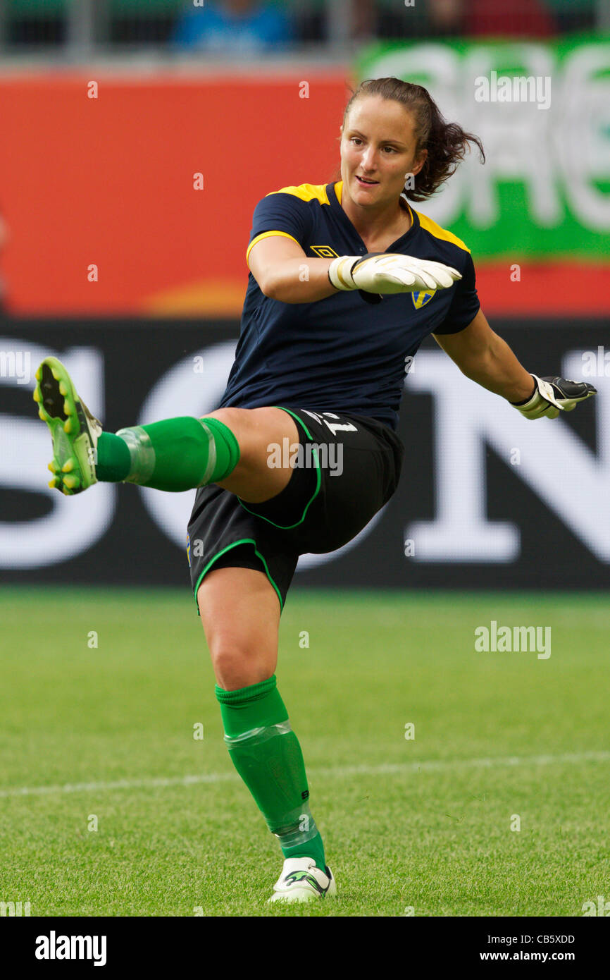Sweden goalkeeper Sofia Lundgren warms up before a FIFA Women's World Cup Group C match against the United States. - Stock Image
