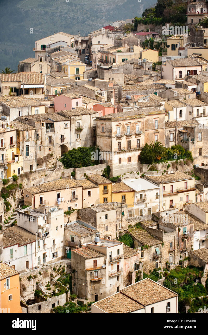 Ragusa, part of Unesco World Heritage listed site of Late Baroque Towns of the Val di Noto, Sicily, Italy - Stock Image
