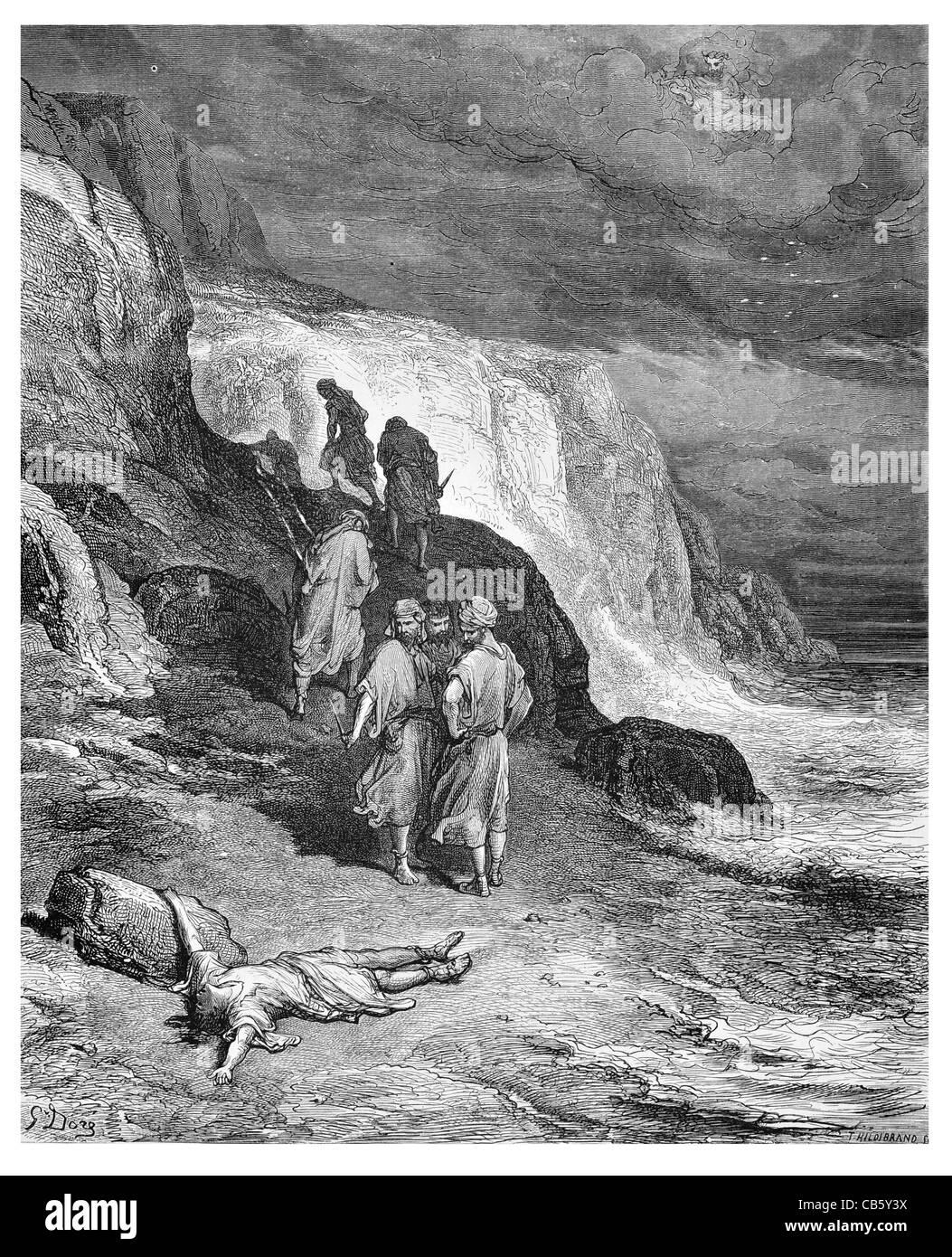 Jupiter et le Passager Passenger gods voyage adventure coast storm knife sword dagger stabbed murder path god clouds - Stock Image