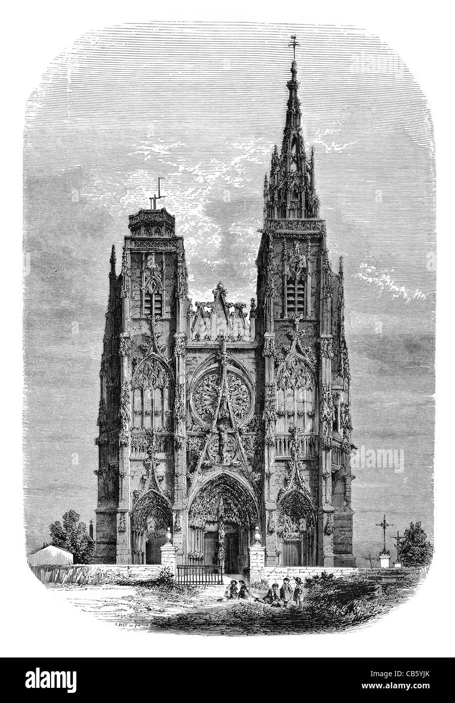 Notre Dame Gothic Cathedral Romanesque Architecture