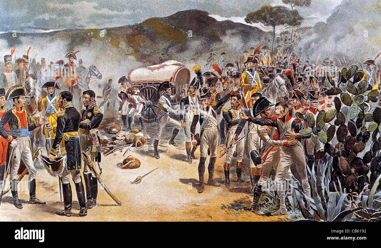 BATTLE OF BAYLEN 1808 French surrender to smaller Spanish army - Stock Image