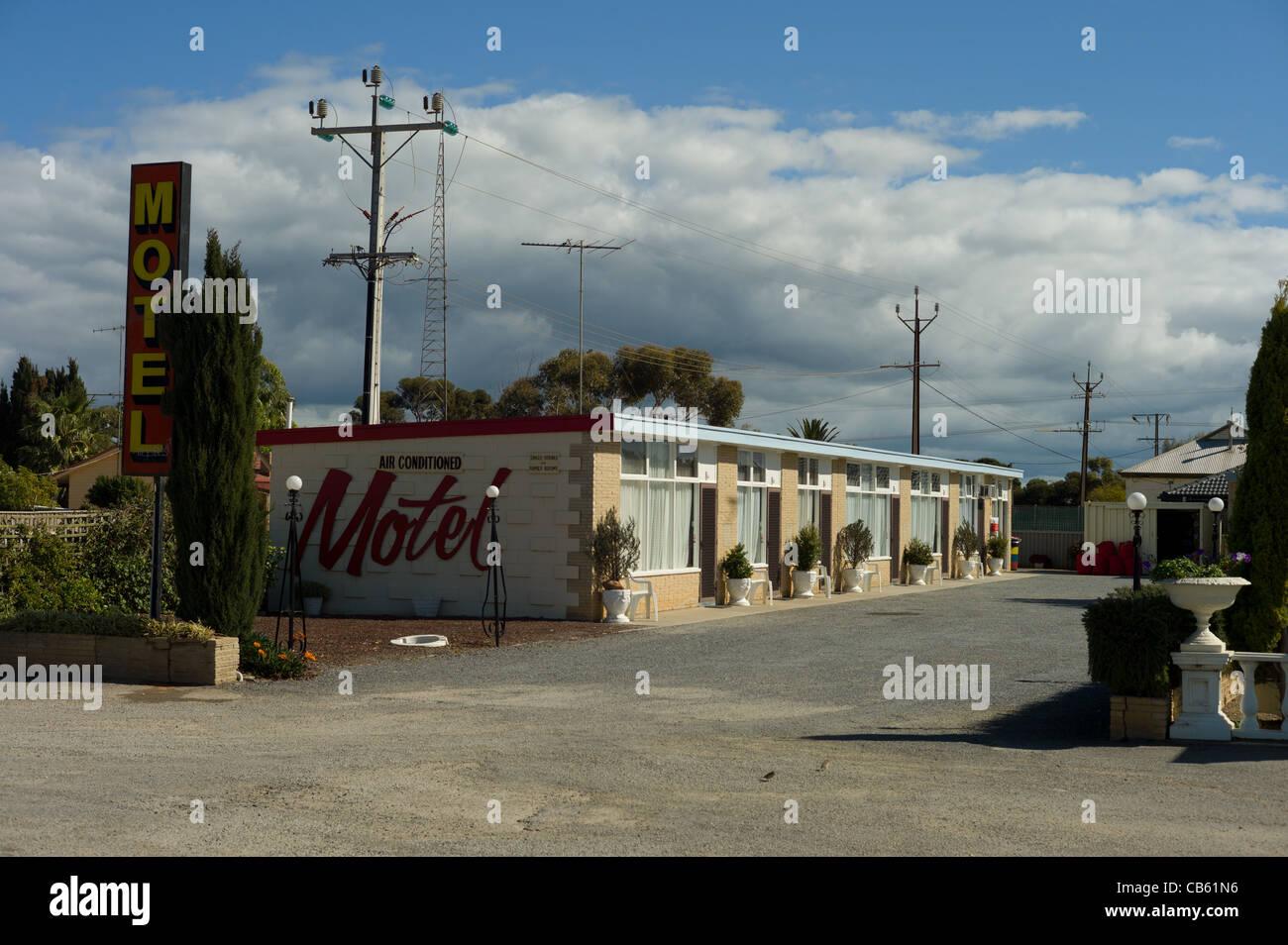 50's/60's American Drive in Style Roadside Hotel Motel Australia - Stock Image