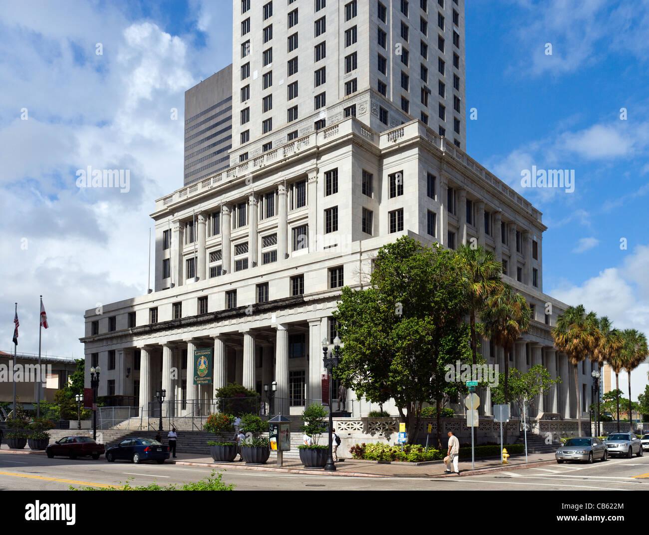 Miami-Dade County Courthouse, West Flagler Street, Miami, Florida, USA - Stock Image