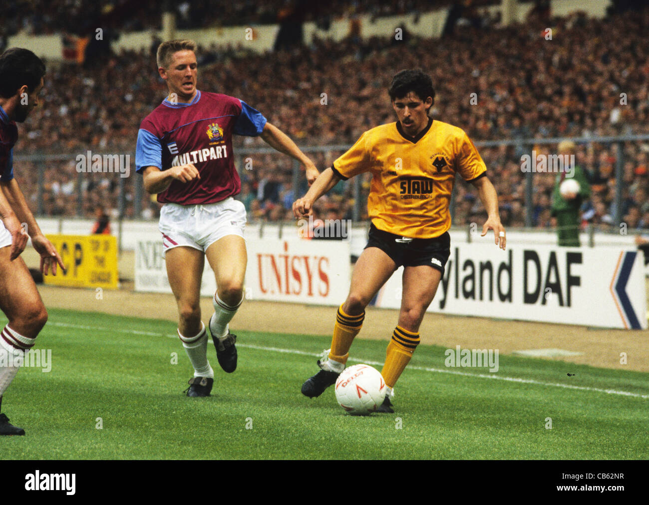 The 1988 Sherpa Van Trophy Final at Wembley Wolverhampton Wanderers V Burnley Andy Thompson - Stock Image