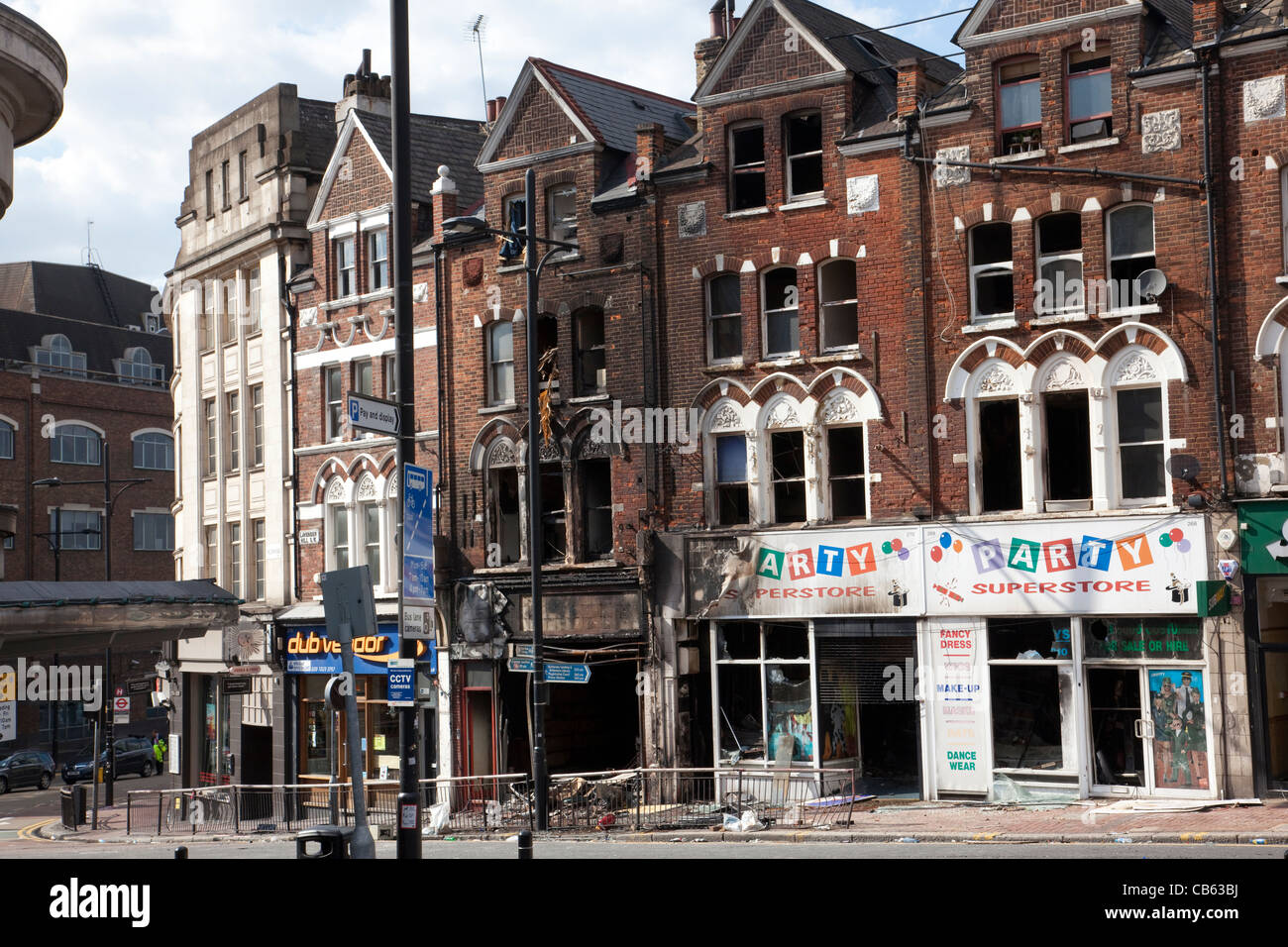 Aftermath of the summer riots and looting across London this August 2011, Clapham London UK. Photo:Jeff Gilbert - Stock Image